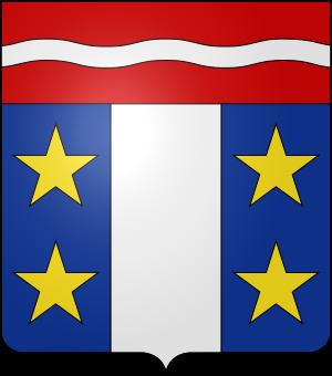 Blason de la famille d'Auber de Peyrelongue (Gascogne)
