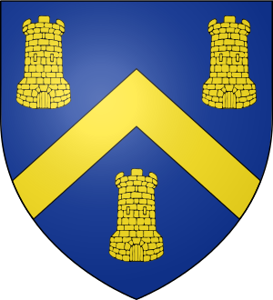 Blason de la famille Mabille de La Paumelière (Anjou)