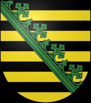 Blason de la famille von Sachsen