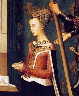 Portrait de Margrete von Oldenburg (1456 - 1486)