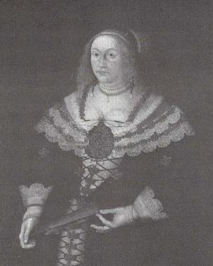 Portrait de Sophie von Hohenzollern (1614 - 1646)