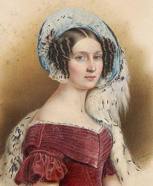 Portrait de Therese von Sachsen-Altenburg (1792 - 1854)