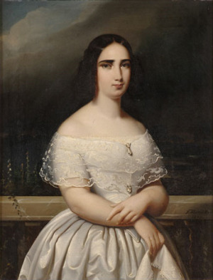 Portrait de Cecilia von Schleswig-Holstein-Gottorp (1807 - 1844)