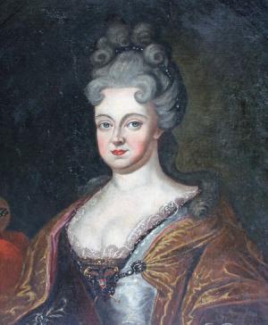 Portrait de Wilhelmina von Braunschweig-Lüneburg (1673 - 1742)